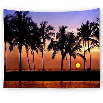 YINGBAOBAO Tapices Colgantes 3D Amanecer Decoración del Hogar Impresión Digital Sábanas Toallas De Playa Colchonetas De Yoga Mantas 100×150Cm: Amazon.es: ...