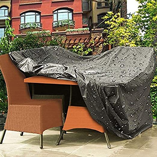 Conjuntos De Muebles Hecho A Medida Negro Guardapolvo Protector Solar Impermeable Libre De Múltiples Fines Funda Protectora Muebles Jardín Cubierta Exterior Funda Protectora (Size : 270x180x89cm) : Amazon.es: Hogar