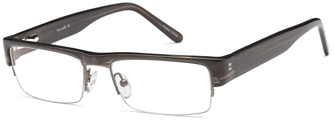 Amazon.com: Mens Prescription Glasses Frames in Gunmetal Rxable ...
