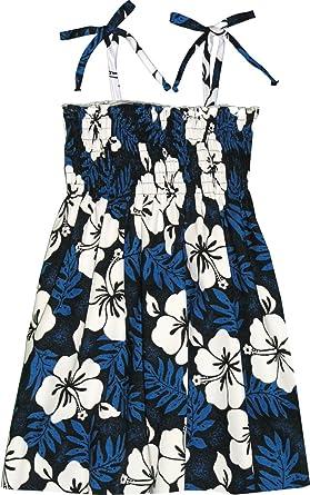 f7d66f5b8a89e Amazon.com: RJC Girl's Tropical Hibiscus Hawaiian Smocked Dress ...