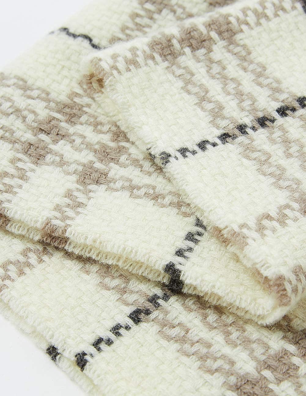 MaaMgic Luxus Kaschmir Wolle Pashmina Schal Damen Warm Winter mit quasten//fransen Deckenschal MEHRWEG