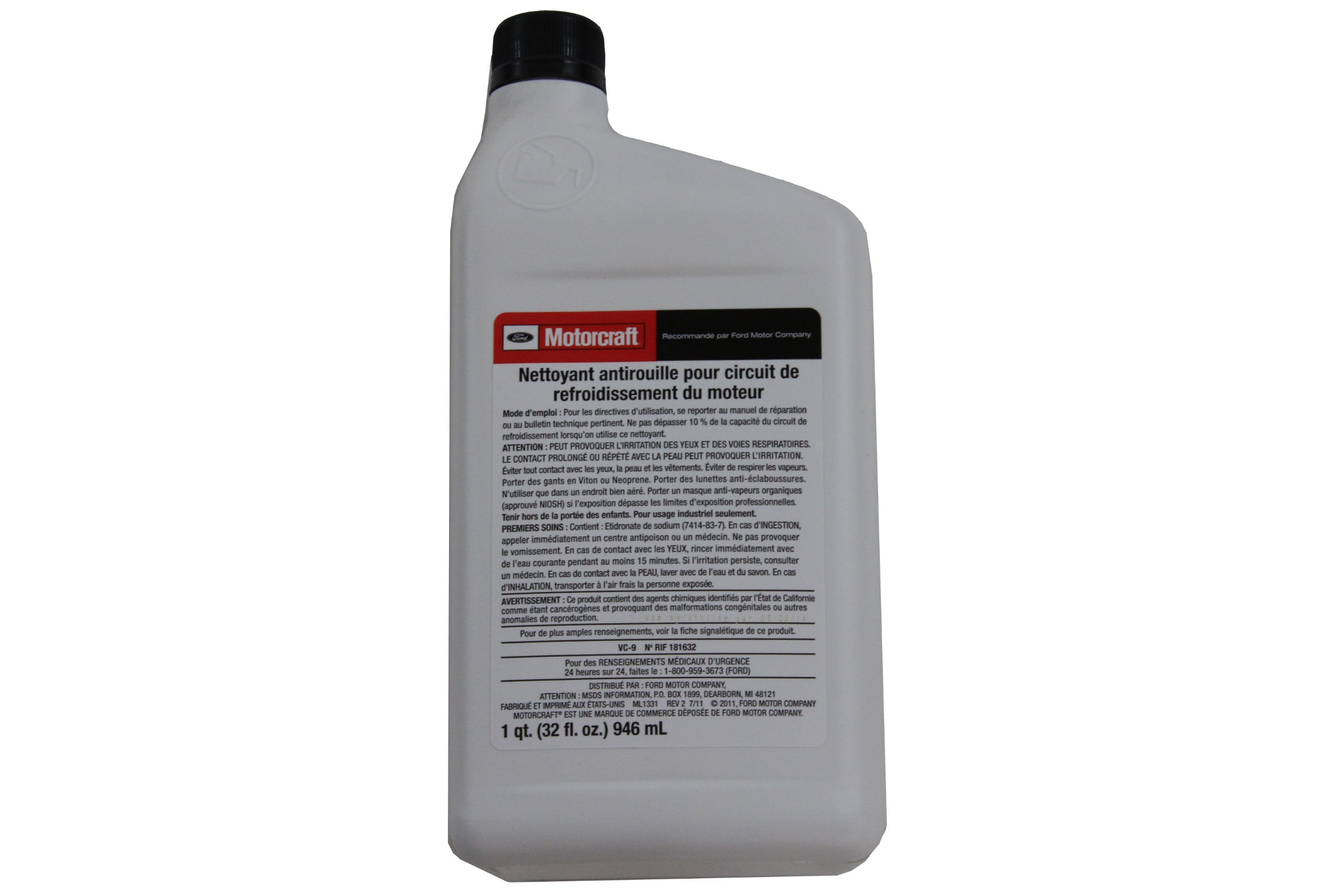 Ford Genuine Fluid VC-9 Engine Cooling System Iron Cleaner - 1 Quart by Ford