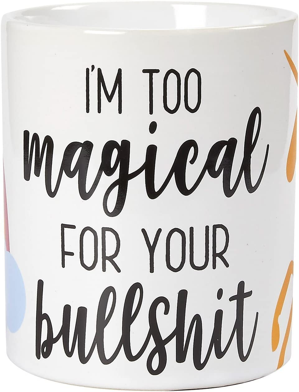 Ceramic Unicorn Coffee Mug with Funny Slogan (16 oz)
