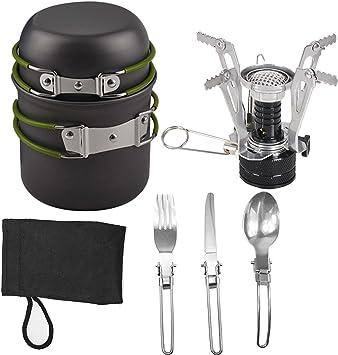 Portátil plegable Outdoor Camping utensilios de Cookwares ...