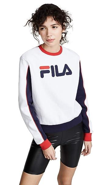 9435b7a1 Fila Women's Nuria Colorblock Sweatshirt at Amazon Women's Clothing ...