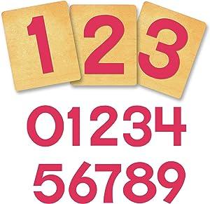 """Ellison SureCut Die 16292-4IN, Block Number, 9 Pack, 5 7/8"""" x 4 7/8"""" x 1"""""""