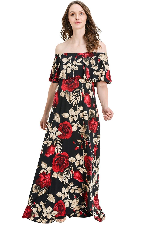 Hello MIZ DRESS レディース B07G3JHKHV Small|Black/Red Rose Black/Red Rose Small