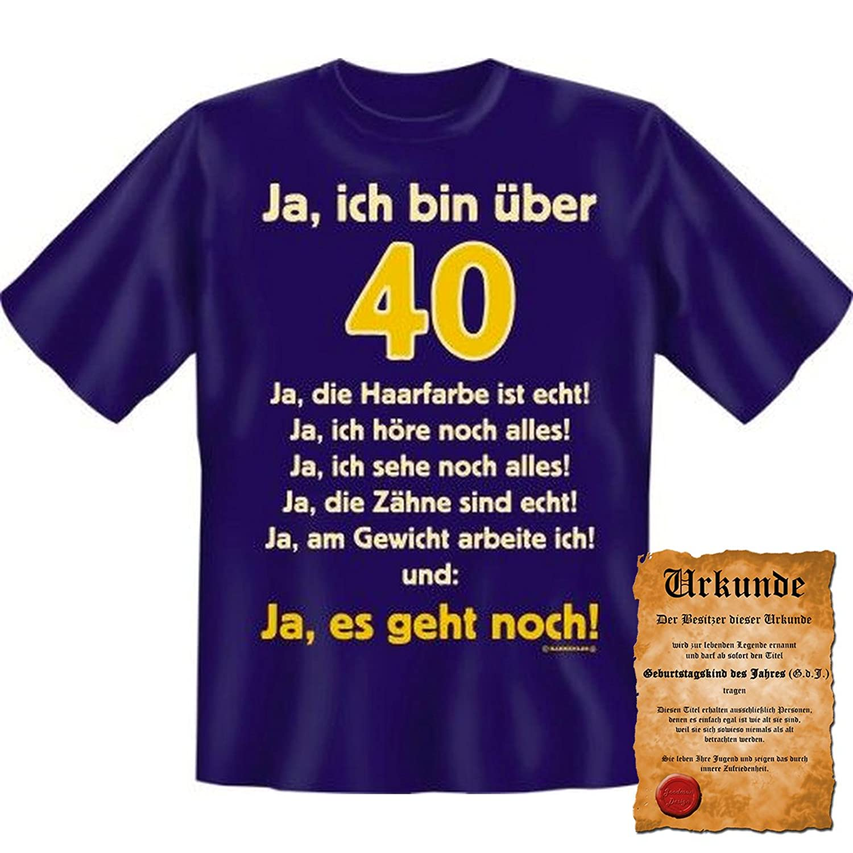 40 Geburtstag Sprüche Lustige Sprüche Tshirt Ja Ich Bin über 40 Ja Es Geht  Noch