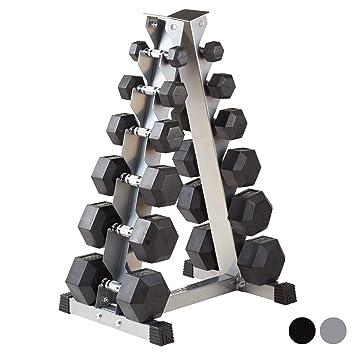 MiraFit - Juego de mancuernas hexagonales, 2-40 kg, con soporte ...