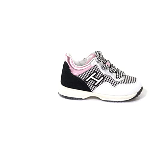 Hogan Interactive Zip Scarpa Sneakers Bambina Junior MOD. HXT0920V311IB  Bianco e Nero 27 d0d098f07ad