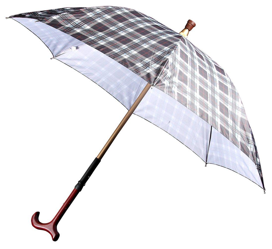 東京丸惣 紳士用 ステッキin傘 軽くて強い 日本製 UVION デュエットウォーカー 直径103cm