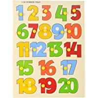 MACMILLAN AQUAFRESH Wooden Puzzle Tray for Kids 1-20 Number Shape (Pack of One)