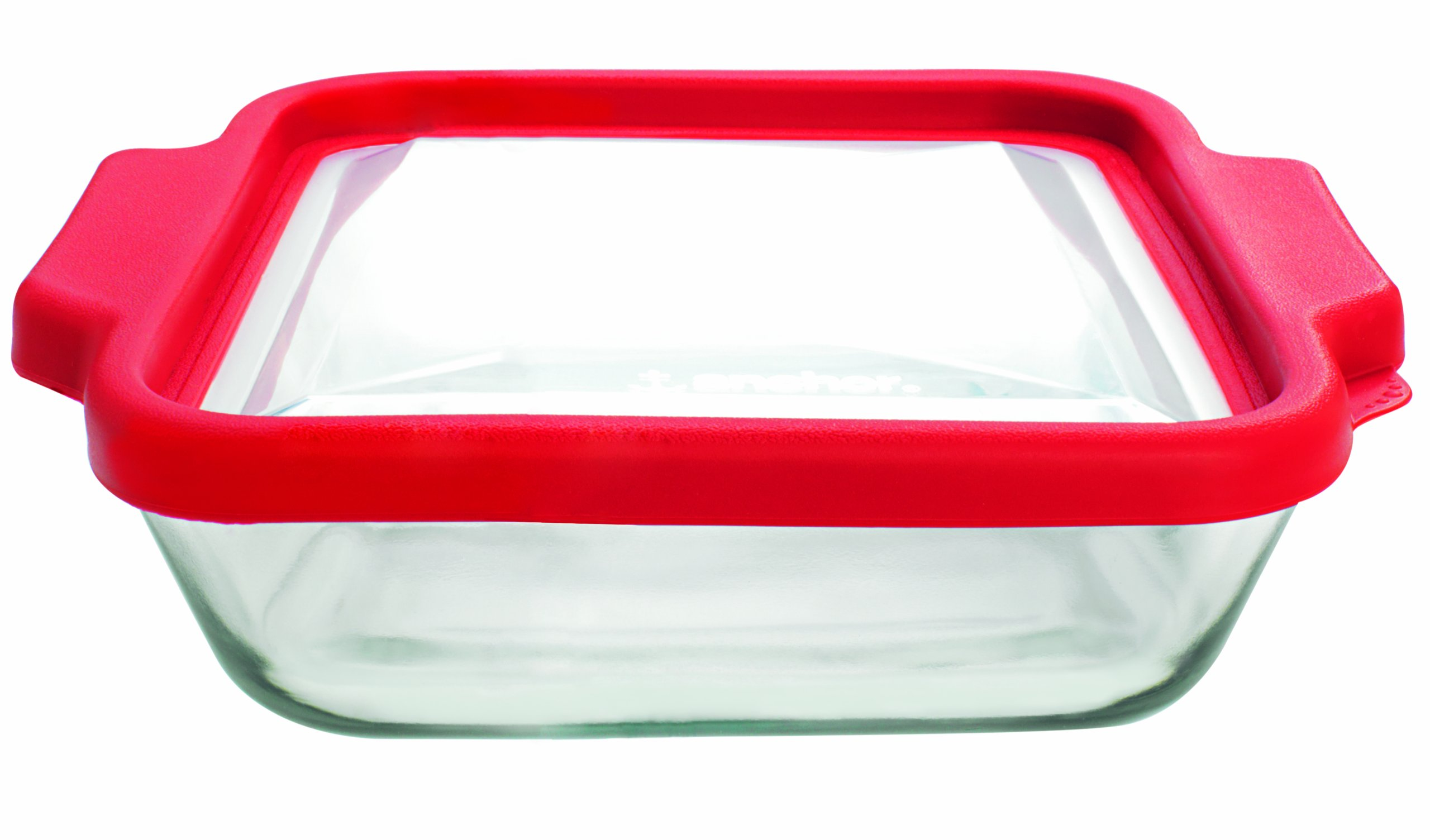 Anchor Hocking 8-InchSquare Glass Baking Dish with Cherry TrueFit Lid by Anchor Hocking
