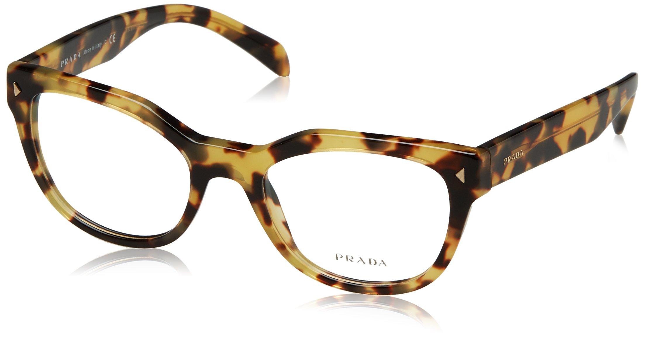 Prada PR21SV Eyeglass Frames 7S01O1-51 - Medium Havana PR21SV-7S01O1-51