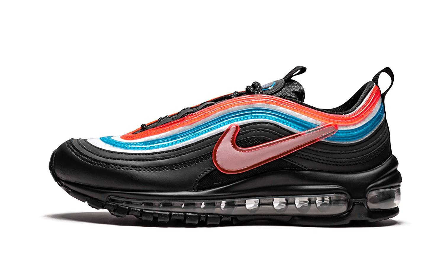 wholesale dealer 01023 efff2 Amazon.com | Nike AIR MAX 97 OA GS (Black/Reflect Silver ...