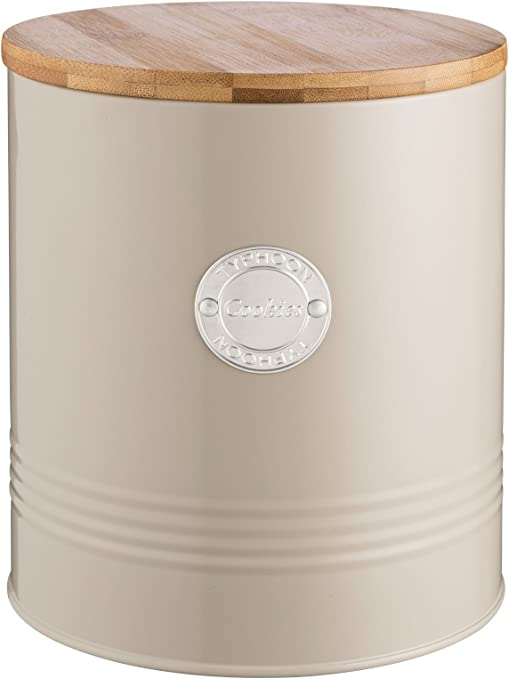 2.5 Litre Grey Typhoon Living Pasta Conatiner Storage Holder Canister Jar with Bamboo Lid