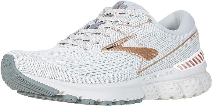 Brooks Adrenaline GTS 19 Sneakers Laufschuhe Damen Weiß/Grau/Kupfer
