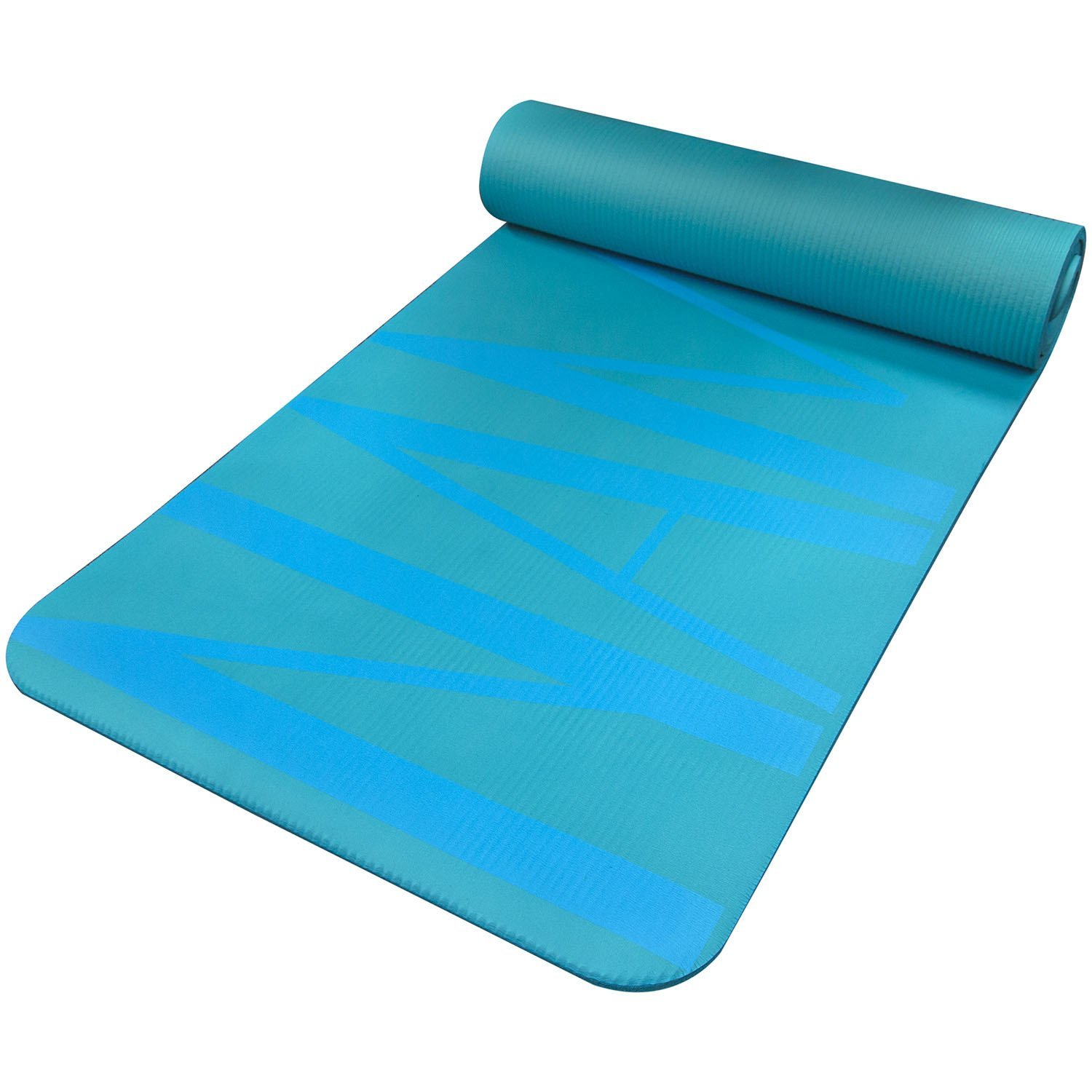 Amazon.com : Fit Spirit Extra Thick Yoga Mat Namaste Blue ½ Inch ...