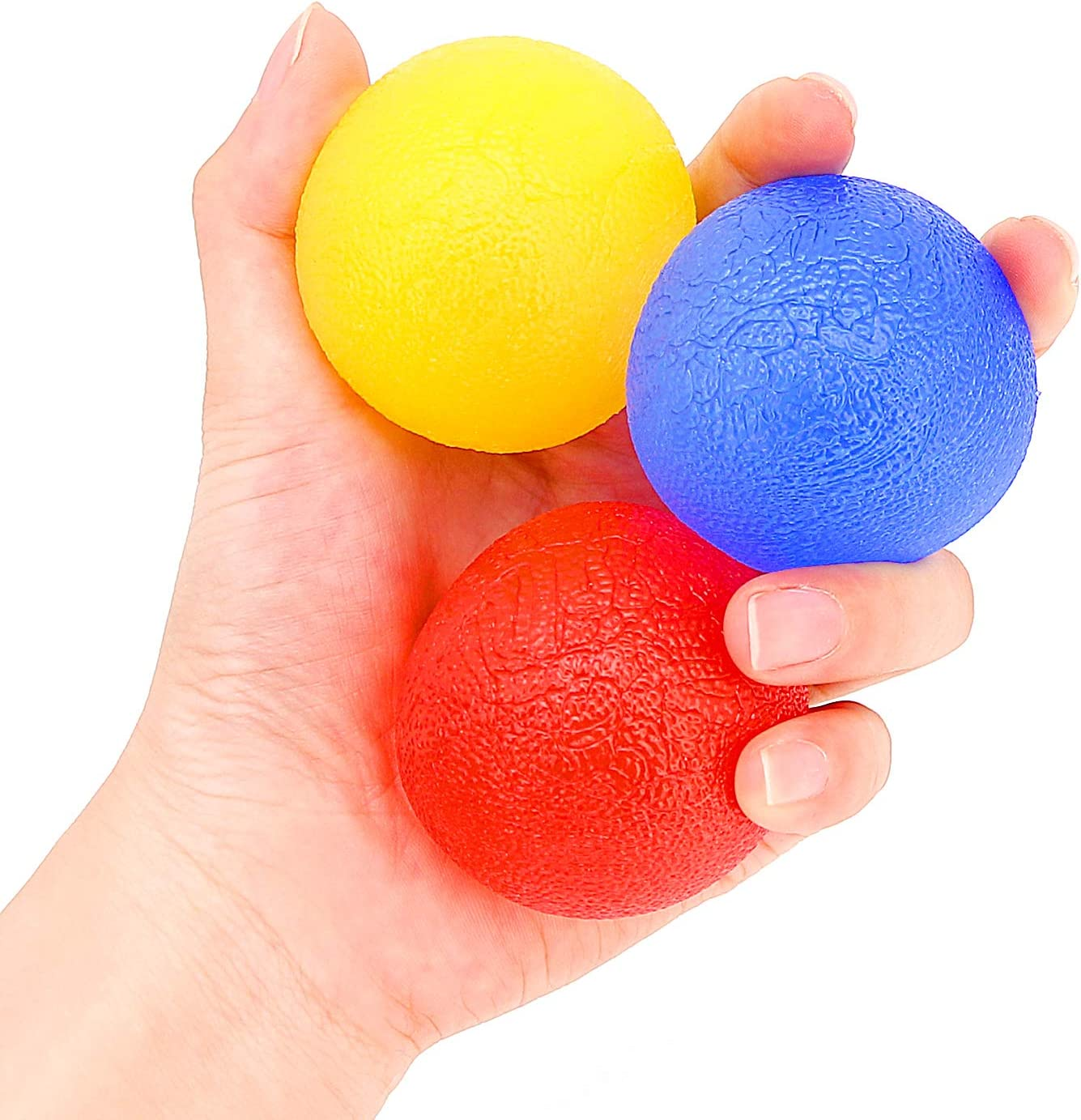 - Hand Therapy Balls Anger Management Helper 3 Pack Arthritis Pain Relief Hand Squeeze Balls Hand Grip Balls for Stress Relief Strengthening Therapy N\\A Hand Stress Balls Muscle Exerciser