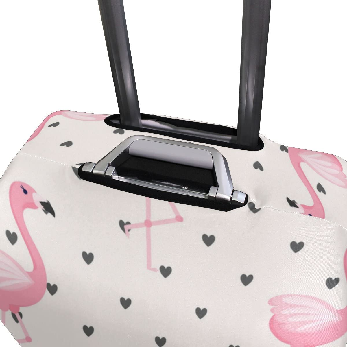 Elastic Travel Luggage Cover Tropical Flamingo Pattern Suitcase Protector for 18-20 Inch Luggage