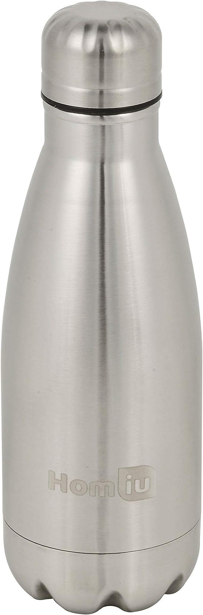 Homiu Trinkflasche 500 Milliliter Ultimate Vacuum Insulated Double Wall Edelstahl Wasser und Getr/änke 24 Stunden kalt und 12 hei/ß Sportflasche L Silber