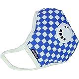 Vogmask 纤维过滤带呼吸阀和活性炭层儿童口罩(蓝白色) L