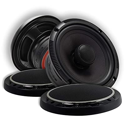 "CT Sounds 6.5 Inch Coaxial Car Speakers - 4-Ohm Impedance, 2 Way Full Range, 1.4"" Voice Coil, 60W (RMS) 