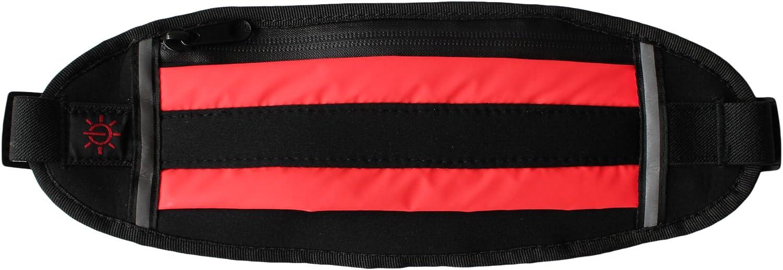 LED Light up Flashing Waterproof Fanny Pack Running Sport Waist Belt w Zipper
