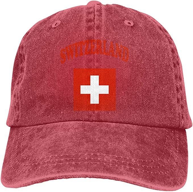 Magictop Bandera de Suiza Unisex Personalizar Gorra de béisbol ...