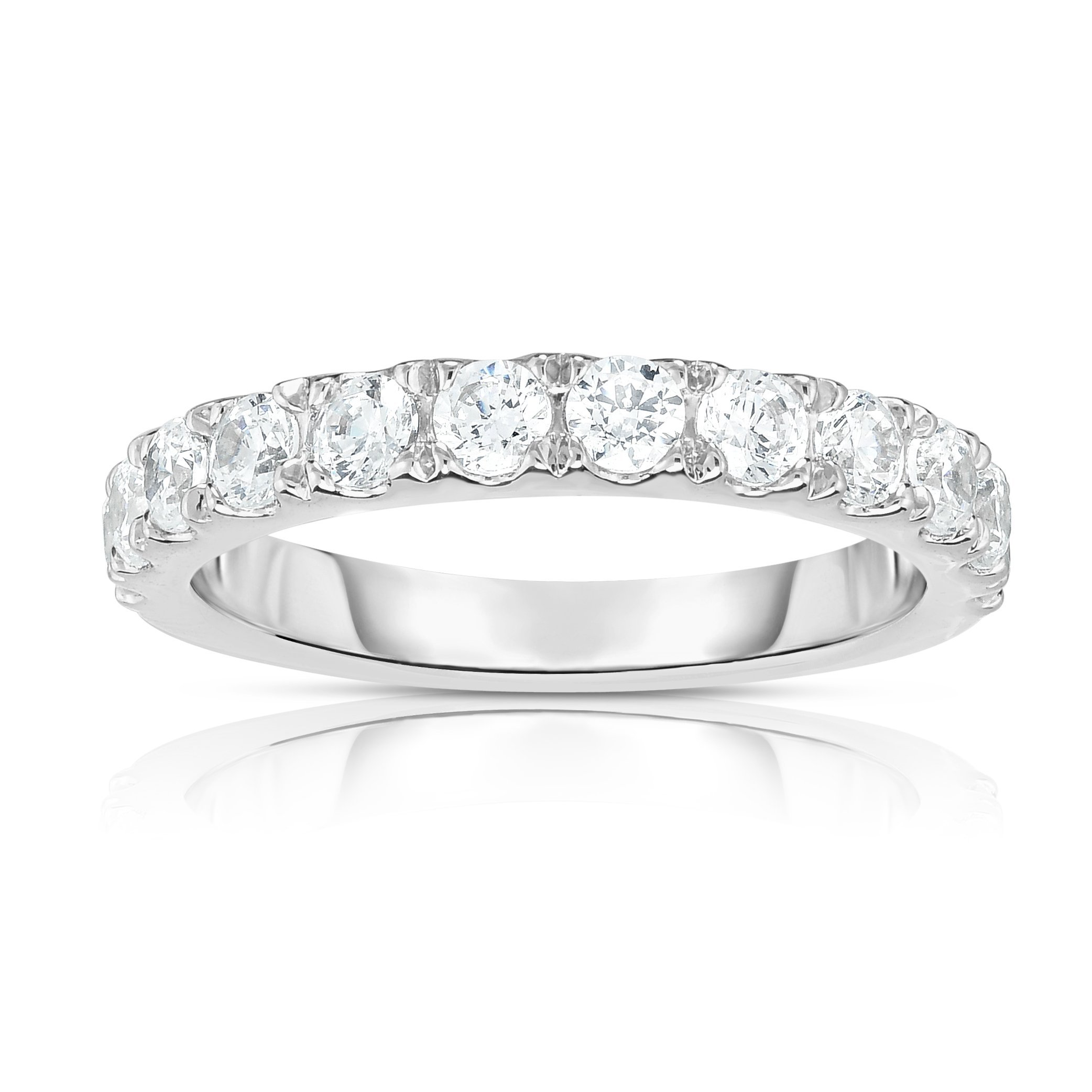Noray Designs 14K White Gold Diamond (1.10 Ct, SI2-I1 Clarity, G-H Color) Wedding Band