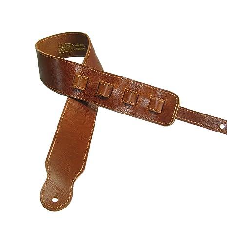 Ajustable correa para guitarra II piel de vaca plena flor acústica o eléctrica, color marrón