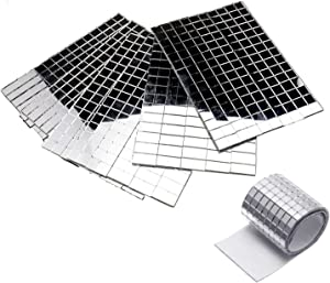 3500+ Small Silver Self-Adhesive Mirror Mosaic Tiles Mirror Tiling Party DIY Decor 5mm x 5mm