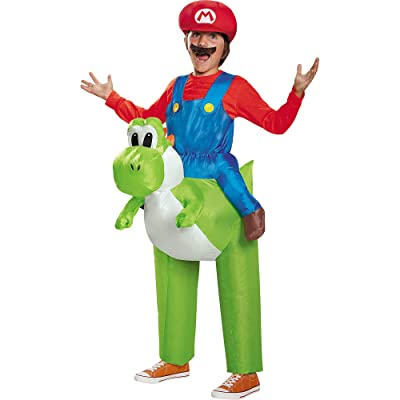 Disguise Mario Riding Yoshi Child Costume: Toys & Games