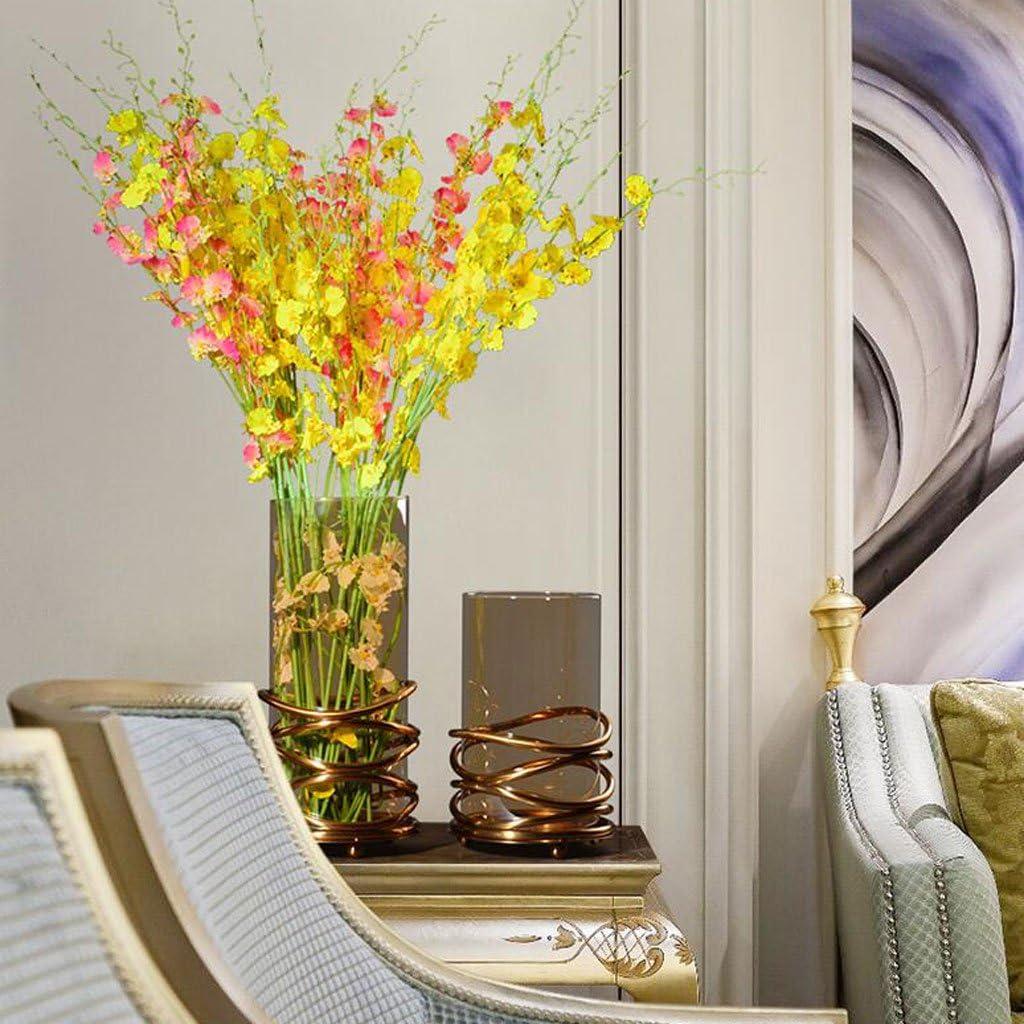 B07GB4MNYV LY Modern Minimalist Stainless Steel Glass Vase Vase Ornaments Floor Stand Indoor Flower Rack Decoration 61egvj-PsYL.SL1024_