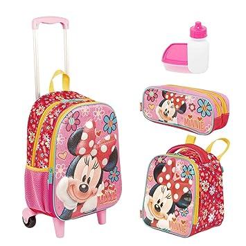 c0221c42a Kit Mochila Infantil Minnie 19X Lancheira Estojo Sestini: Amazon.com ...