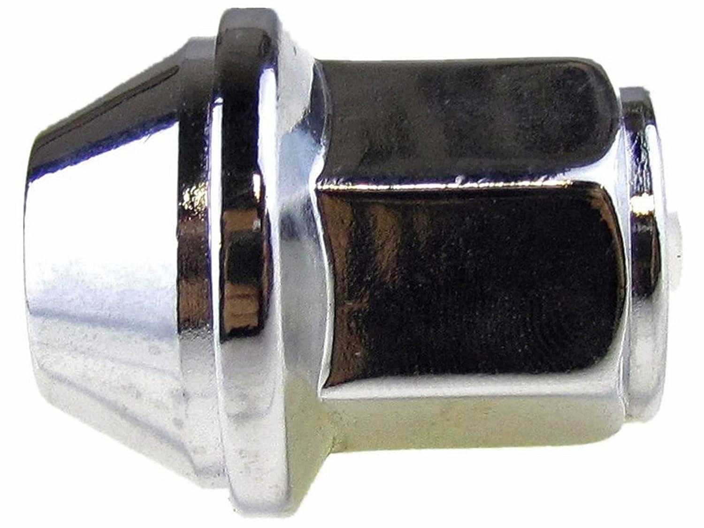 Chrome Pack of 10 Dorman 611-007 Wheel Nut M14-1.50 for Select Ford Lincoln Models