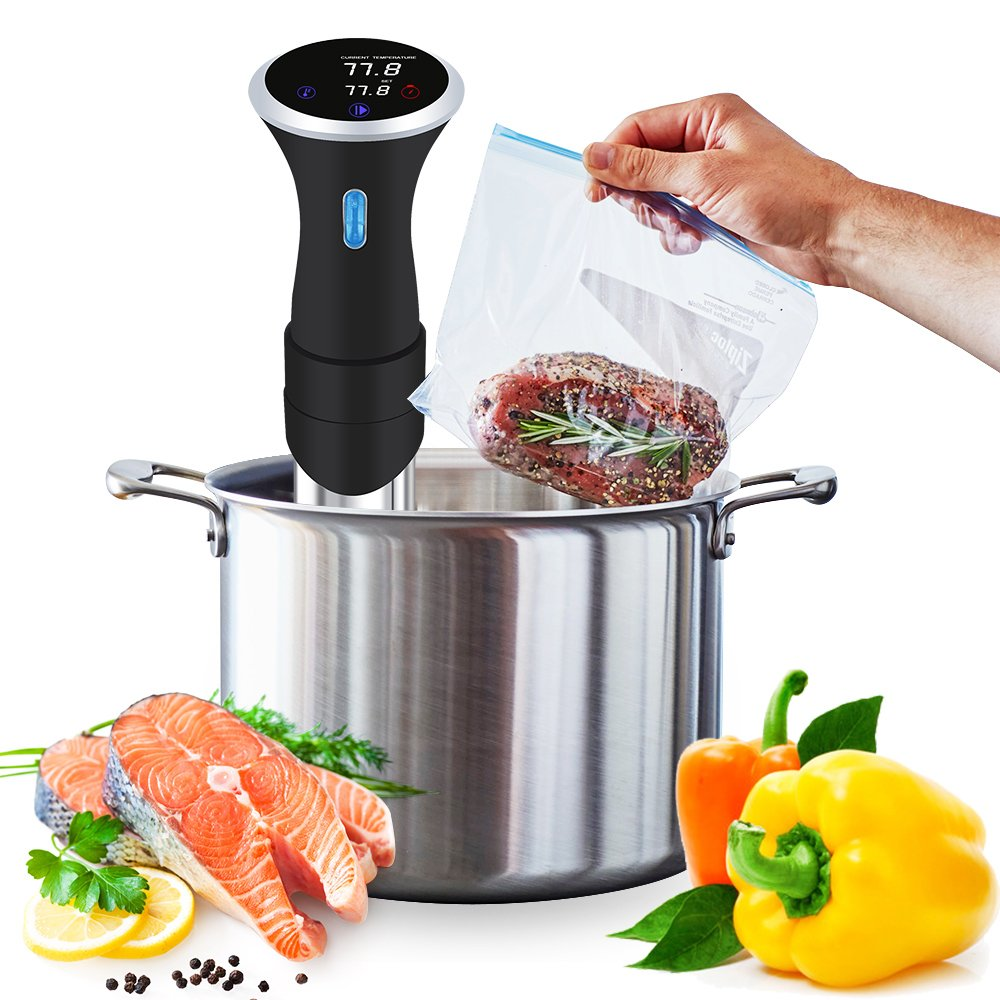 NewPal Sous Vide Cooker with Digital LCD Display, 1000W power.Max temperature to 99 oC slowing cooking machine