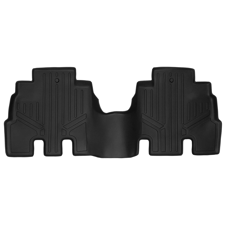SMARTLINER Floor Mats 2nd Row Liner Black for 2014-2018 Jeep Wrangler Unlimited JK Old Body Style MAXLINER B0194