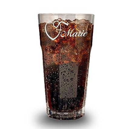 Saftglas Barglas personalisiert mit Namen Geschenk-Idee zum Geburtstag Cocktail-Glas 405 ml St/ölzle Lausitz Wasserglas Longdrinkglas mit Gravur
