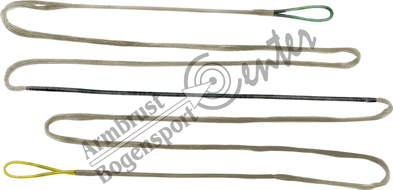 Bogensehne, Dacron Sehne 10 Strang für Bogenlänge 62 zoll, Langbogen, Recurvebogen Black Flash