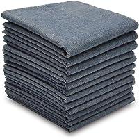 Selected Hanky 100% Cotton Men's Handkerchiefs/Hankies Colored Pack of 12