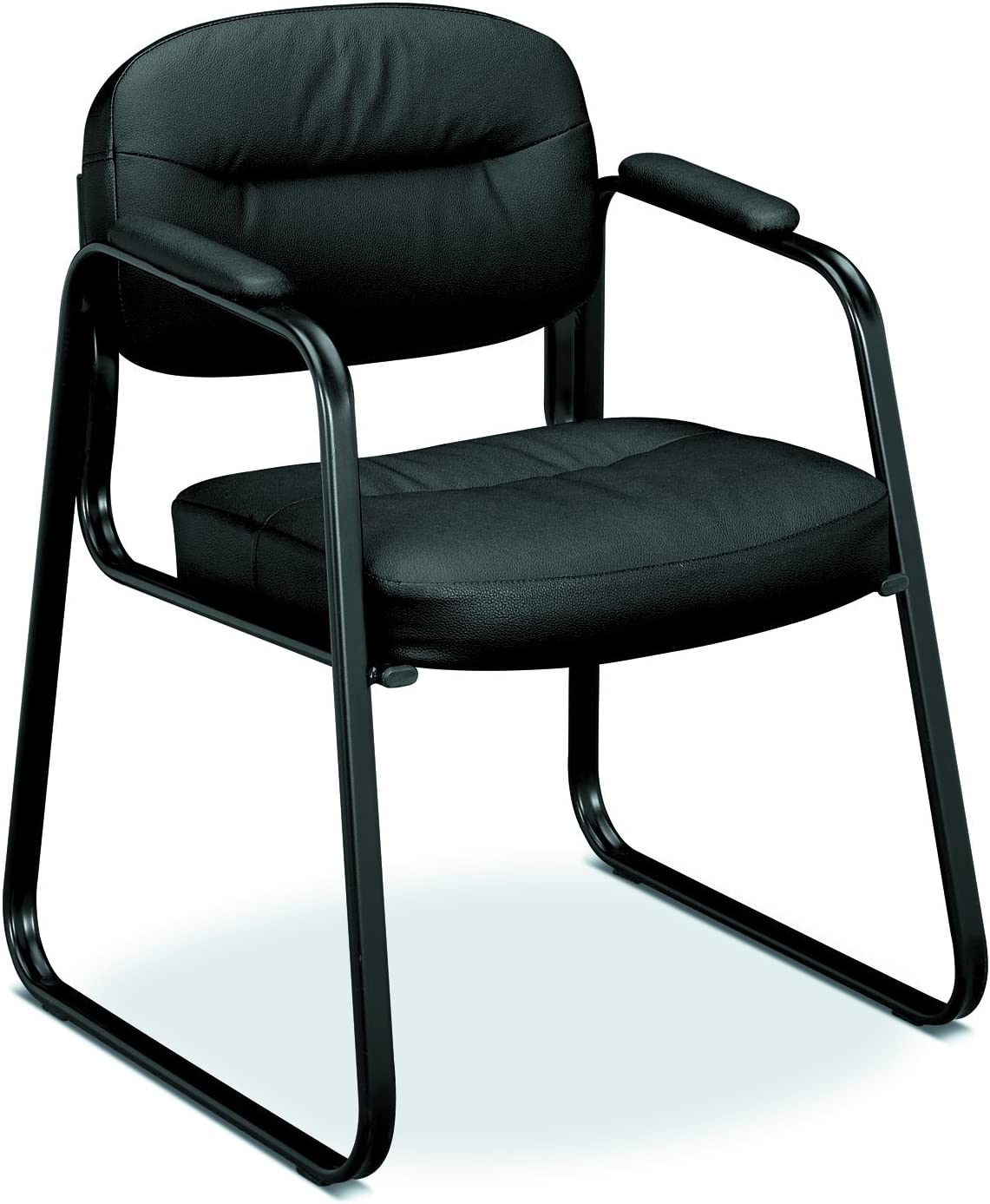 basyx by HON VL653 Series Guest Chair with Padded Arms, Black