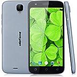 "Ulefone U007 Pro - Smartphone libre 4G Android 6.0 (Pantalla 5.0"", Cámara 8.0 Mp, 8GB ROM, 1GB RAM, Quad Core 1.0GHz, Dual SIM), Gris"