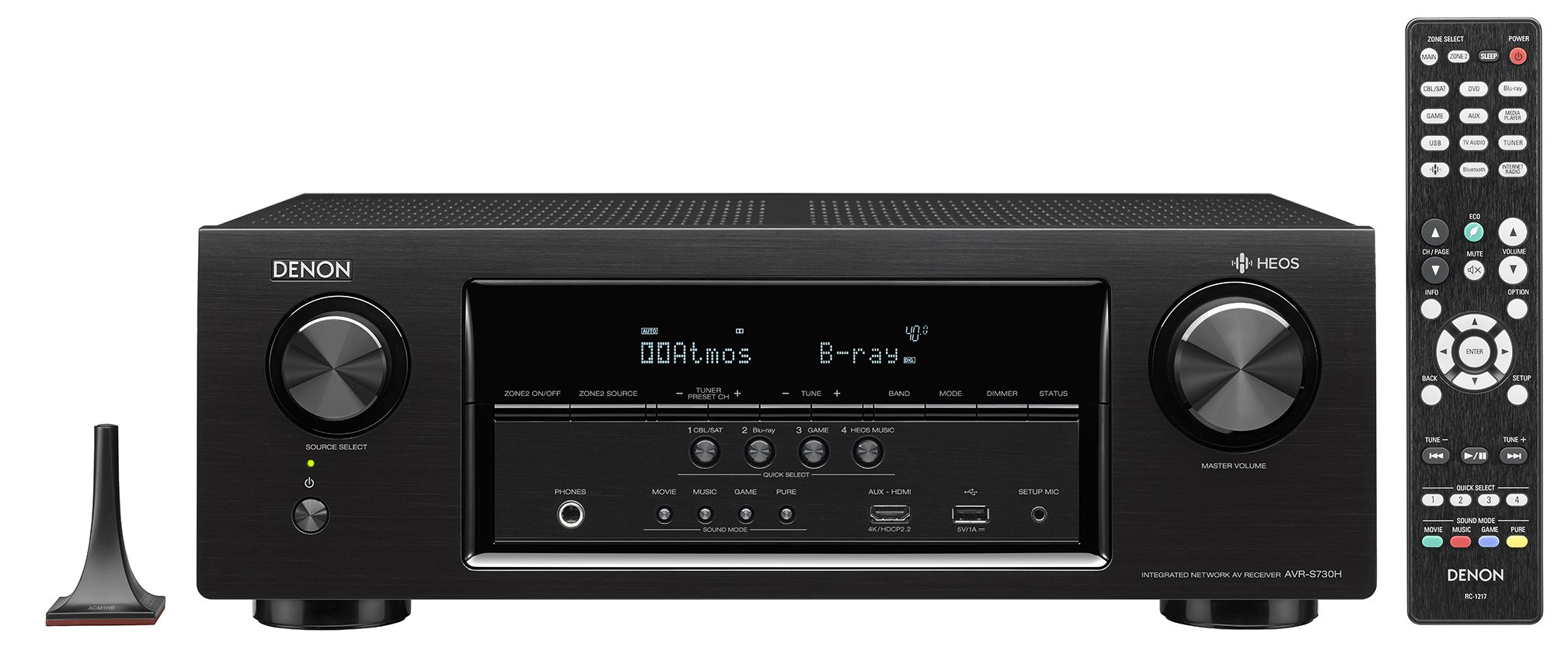 Denon AVRS730H 7.2 Channel AV Receiver with Built-in HEOS wireless technology by Denon