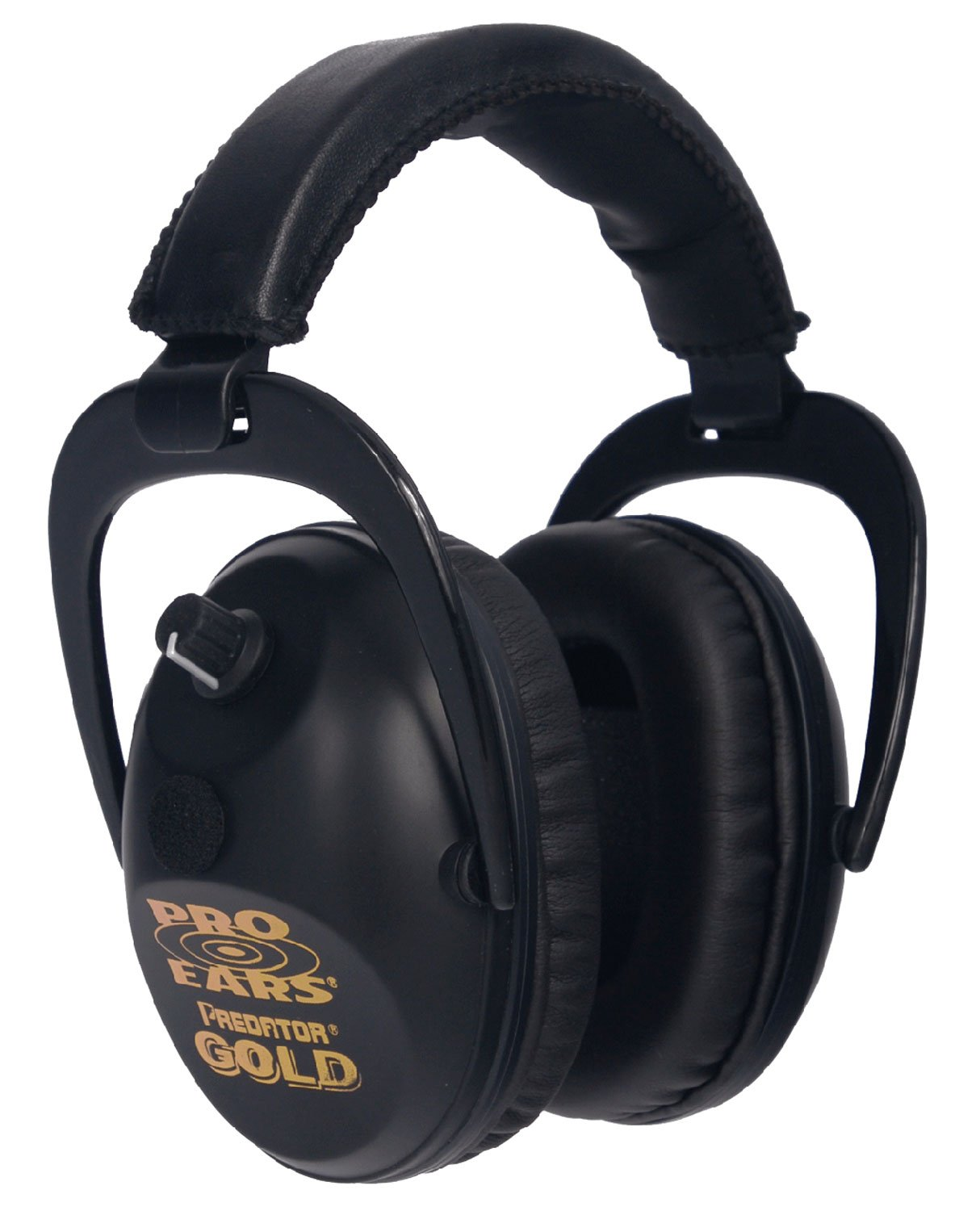 Pro Ears - Predator  Gold - Hearing Protection and Amplfication - NRR 26 - Contoured Ear Muffs - Black by Pro Ears