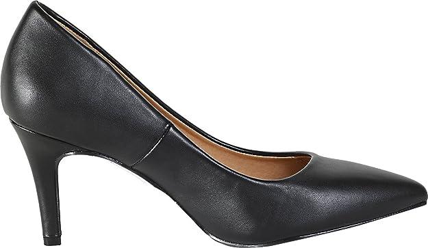 Amazon.com | City Classified Super Cushioned Memory Foam Inner Sole Comfort  Coen-h Medium High Heel Pointy Toe Pump | Pumps
