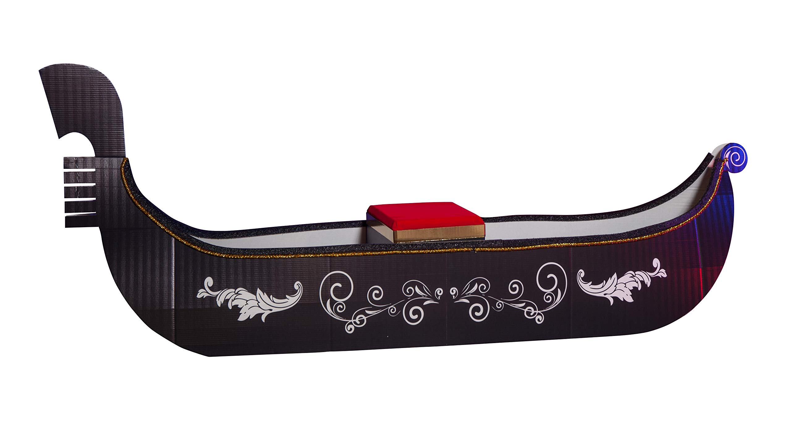 TCDesignerProducts Sturdy Gondola on Grand Canal Kit, 10 Feet 6 Inches Wide, Venetian Prom Theme Gondola Decoration Can Be Sat Upon