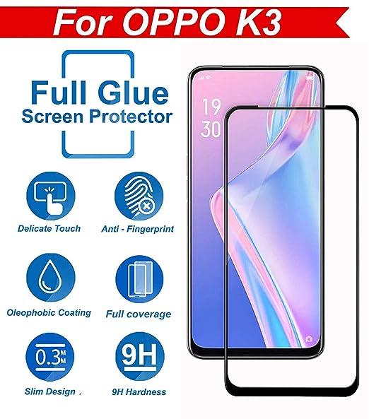 Kavacha OPPO K3 Tempered Glass – Kavacha Full Glue 6D Full Edge-to-Edge  Screen Protection Tempered Glass for OPPO K3 - Black