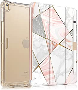 iPad 8th Generation Case, iPad 7th Generation Case, iPad 10.2 2020/2019 Case, Translucent Frosted Back Protective Smart Cover for 10.2