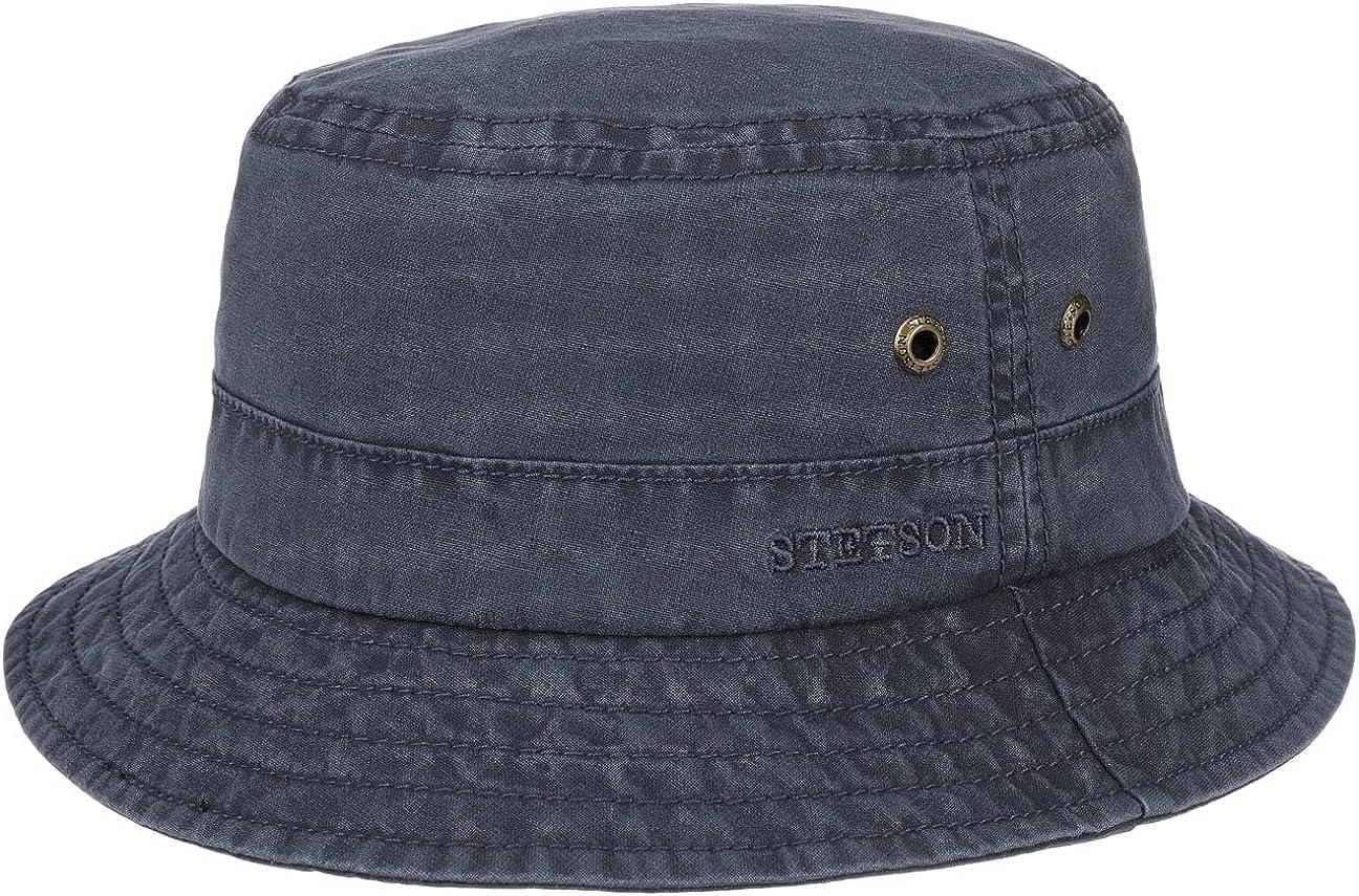 STETSON Washed UV-Schutz Bucket Hat Fischerhut Hut Baumwollhut Sonnenhut